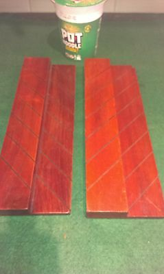 Pair Of Chas Goodall Antique Mahogany Bridge Card Holders
