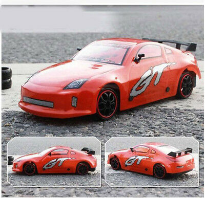 Orange High-Speed Length 25CM Simulation Remote Control Car Rechargeable Toy  #