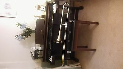 Tenor B flat trombone with case