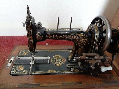 vintage FRISTER & ROSSMAN hand sewing machine with case model 1378097 1904
