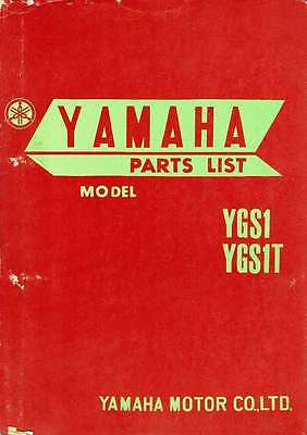 Yamaha Ygs1 & Ygs1T Illustrated Spare Parts List 1967 *rare*