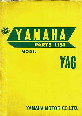 YAMAHA YA6 125cc ILLUSTRATED SPARE PARTS LIST 1967 *RARE*