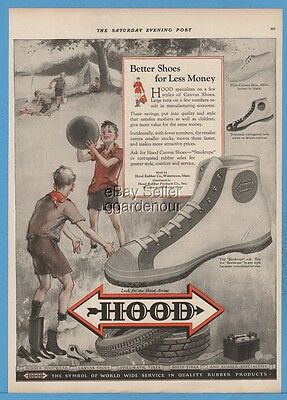 1927 Hood Rubber Watertown MA Smokrepe Canvas Basketball Shoes Gym Footwear Ad
