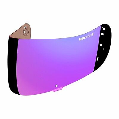 Icon Optics Motorcycle Airmada Helmet Shield Visor Fog Free Purple Free Ship