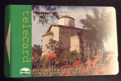 Cyprus Telecommunications £5 Telecard Clean Used Phonecard