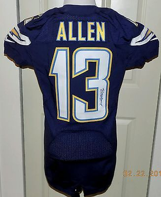 2016 NIKE, 13KEENAN ALLEN,COA, SIGNED SAN DIEGO CHARGERS NFL Game Jersey42 SKILL