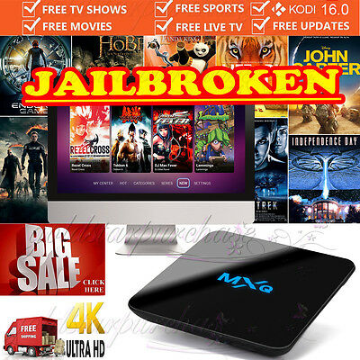 MXQ PRO Quad Core Android 5.1 Smart TV Box New Fully Loaded Free Sports Movies