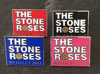 STONE ROSES UK TOUR 2017 ENAMEL PIN BADGE - RED, BLACK, PINK or BLUE or THE SET