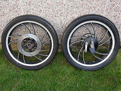 Yamaha RD125LC Front And Rear Wheels.