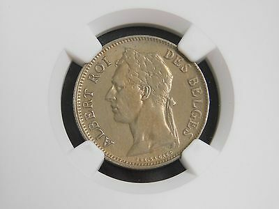 1929/8 Bel. Congo 50 Cent Coin! Flemish NGC-XF! (001)
