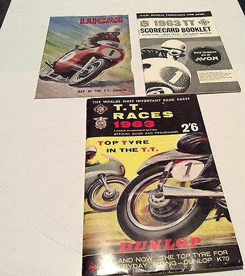 1963 Isle of Man TT Races Official Guide & Programme