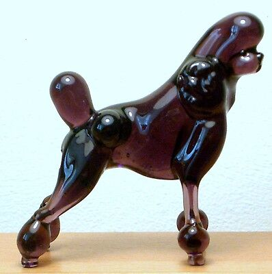 """Hand Blown """"murano"""" Glass Collectable  Circus  Poodle Dog  Figurine"""