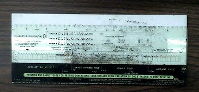 MICR Template for Magnetic Ink Printing on Bank Checks