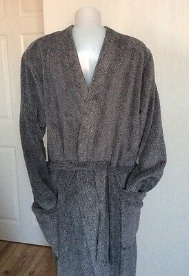 NEW - MENS MARKS & SPENCER Stay New Technology (SIZE - S) GREY ROBE (SO... SOFT)