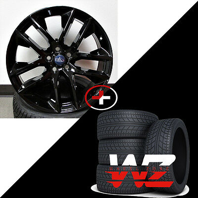 """20"""" Ford Mustang Style Wheels w/ Tires Gloss Black fits Ford Mustang 5x114.3"""