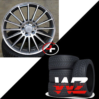 """19"""" Non Staggered 787 Style Wheels w Tires Fits Mercedes AMG C CLA CLK E Class"""