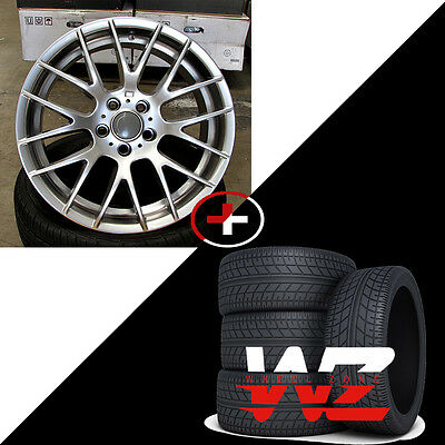 """19"""" Wheels/Tires fits BMW 3 4 5 6 Series 7 Series M6 CLS Style Rims Silver"""