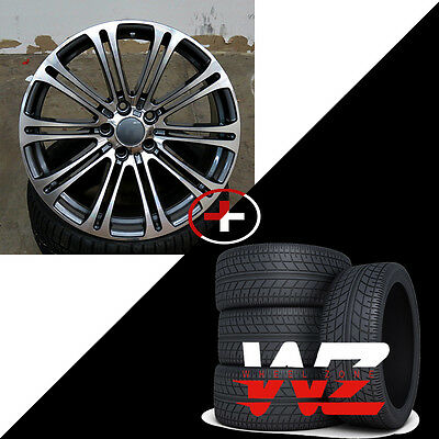 20 Style 220 Wheels for BMW 3 4 5 6 7 Series 330 M3 M5 Gunmetal Machined w Tires