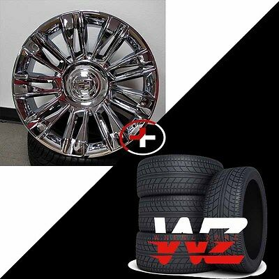 22 2016 Platinum Style Chrome Wheels with Tires fits Cadillac Escalade EXT ESV