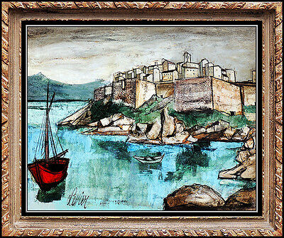 CHARLES LEVIER Original LARGE PAINTING Oil on Canvas Signed French Art FRAMED
