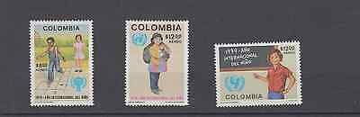 Colombia 1979 Year Of The Child Set Mint Never Hinged