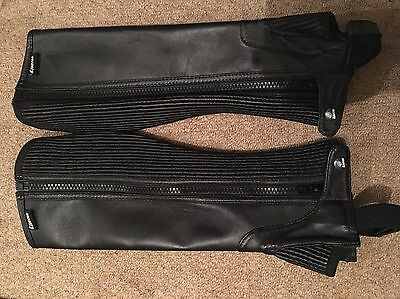 Ladies Adults Equestrian Horse Riding Black Loveson Half Chaps Size Adult Sma