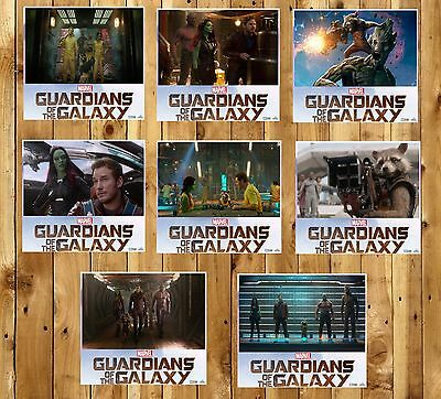 GUARDIANS OF THE GALAXY marvel movie lobby cards photo rare poster full set
