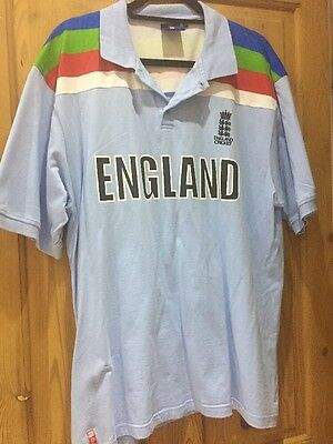 England 1992 World Cup Cricket Shirt Official Product XXL