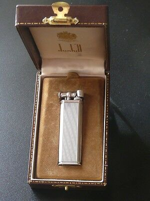 Dunhill Paris Sylphide Lighter Solid 925 Silver In Original Box With Paperwork