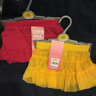 Toddler Sun Skirt Tutu Ra Ra Skirt (Chainstore) Yellow or Pink Age 2-3 Toddler