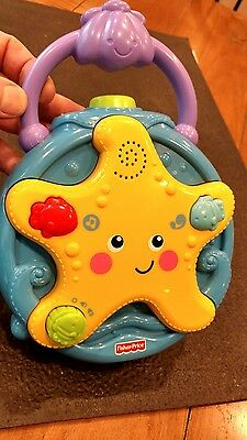 Fisher Price Ocean Wonders Projector Soother Starfish Blue And Yellow Unisex