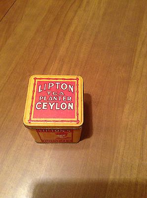 Lipton's Tea Planter Ceylon Square Tin