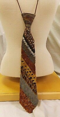 Real Feather Neck Tie
