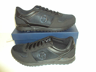 Sergio Tacchini Metric Men's Black Trainers Shoes New Size UK 12