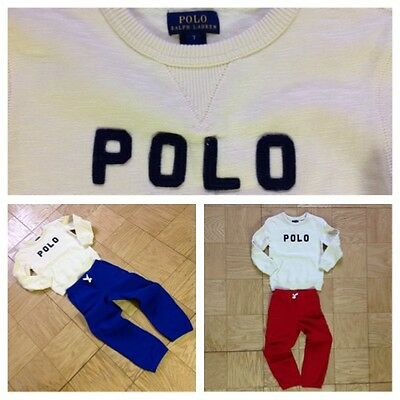 Polo Ralph Lauren Toddler Boy's Fleece Pants & Sweatshir Set Size 7T 6T