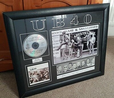 UB40 Best Of Vol 1 presentation 12x8 repro photo Facsimile signed image. Die cut