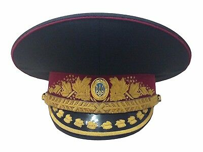 UKRAINE, GENERAL OF ARMY Peaked cap, Ukrainian Visor hat, UNIFORM, Original