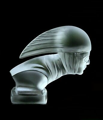 Bohemian Art Deco Glass Car Mascot / Hood Ornament