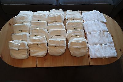 Little Lamb Nappies x20 - Bamboo (with liners) - Size 2