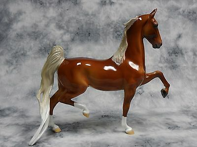Peter Stone * Cowboy * Glossy ASB American Saddlebred Traditional Model Horse