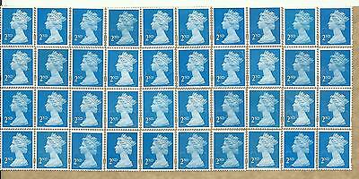 40 2nd Class Unfranked GB Stamps (Peelable)