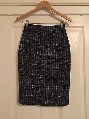 Cue In The City 6 Black Check Skirt