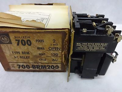 Allen Bradley 700-Brm200 Ac Relay Nema Open Volt 120 Cycle 60