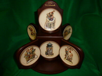 """Hummel """"Century Collection"""" All 14 Mini Plates with Table Display  MIB"""