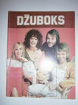 Abba Yugoslavia Rock Magazine Signed Nm