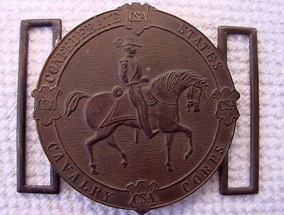 Confederate States Cavalry Corps 2 Piece Csa Belt Buckle ~ R.j. Hughes Importer