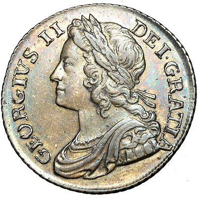 George II. Shilling. 1739..   Extremely Fine..  7073.