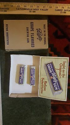 vintage Blatz grape flavor chewing gum and display box milwaukee wis