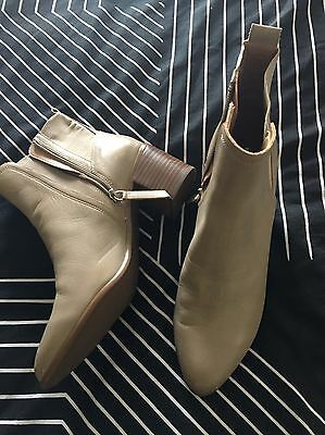 Leather Women's Hush Puppies Boots Ankle Tan Size 10 New