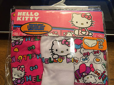 NEW Toddler Girls Clothes Hello Kitty 3 Pack lot Brief Panties Underwear 2T 3T